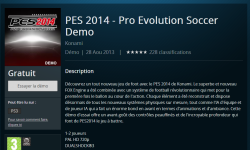 Pro Evolution Soccer PES 2014 Demo PSN en avance PC