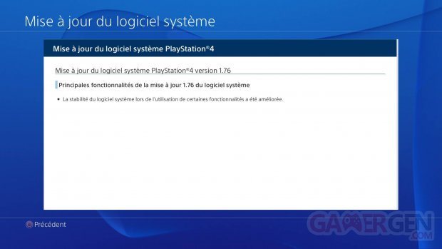 PS4 firmware 1.76