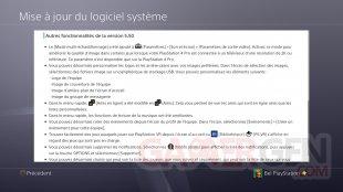 PS4 FW MAJ update 5.50 changelog suite