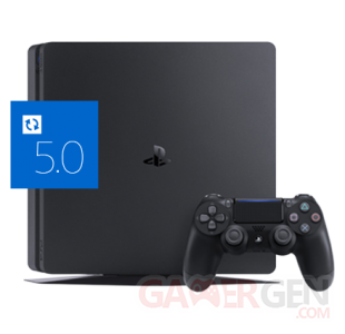 PS4 icone MAJ update firmware 5.0