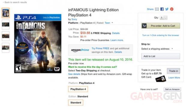PS4 inFAMOUS Leak