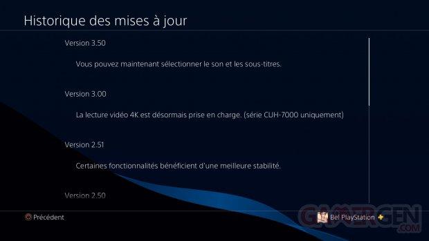 PS4 Lecteur Multimédia mise à jour 3.50