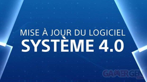 PS4 PlayStation Mise à jour logiciel 4 0 head