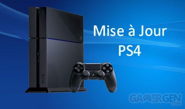 PS4 PlayStation Mise a jour MaJ Update vignette 25.03.2014