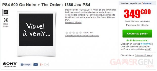 ps4 the order bon plan cdiscount