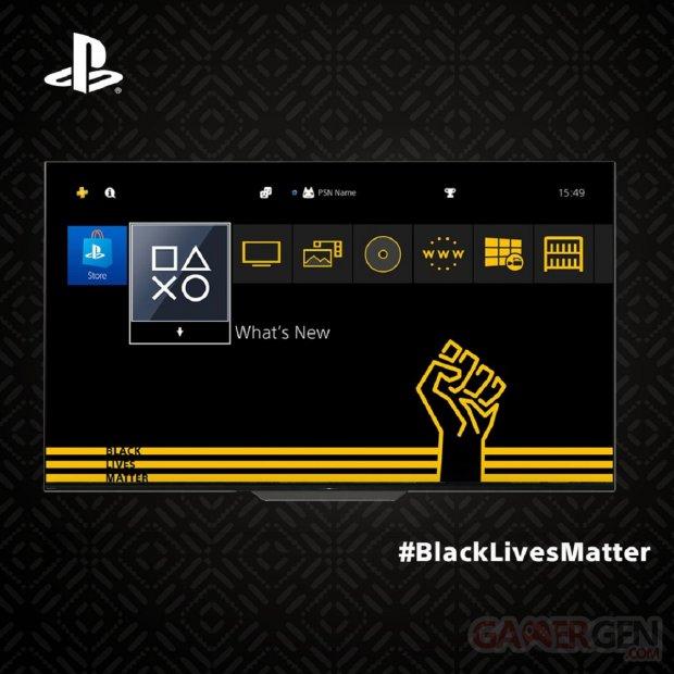 PS4 Thème Black Lives Matter