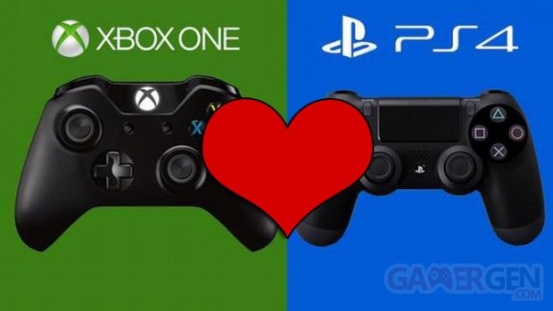 PS4 Xbox One logo coeur