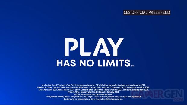 PS5 line up games jeux 2021 2022 2023 CES