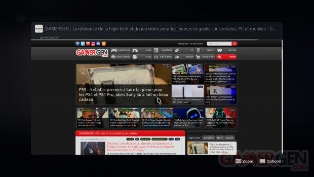 PS5 PlayStation 5 navigateur Internet Web tuto images messagerie (1)
