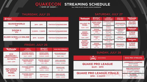 QuakeCon 2019 programme