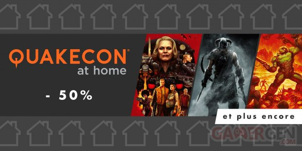 Quakecon at home eShop promotions Bethesda 04 08 2020