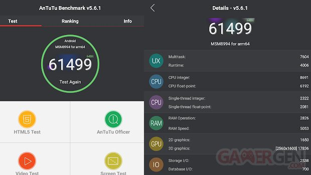 Qualcomm Snapdragon 810 benchmark AnTuTu