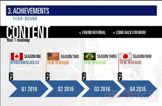 Rainbow Six Siege DLC anne?e 2016 Ubisoft