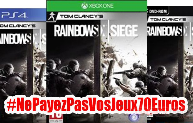 rainbow six siege NePayezPasVosJeux70Euros