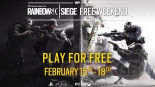 Rainbow Six Siege Week end gratuit février 2018