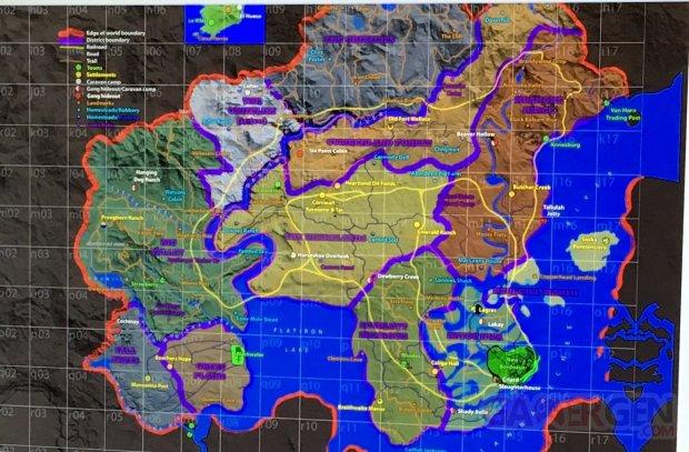 Red Dead Redemption 2 carte fuite