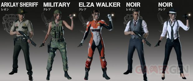 Resident Evil 2 tenues costumes image