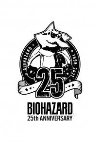 Resident Evil BioHazard 25th Anniversary logo 2