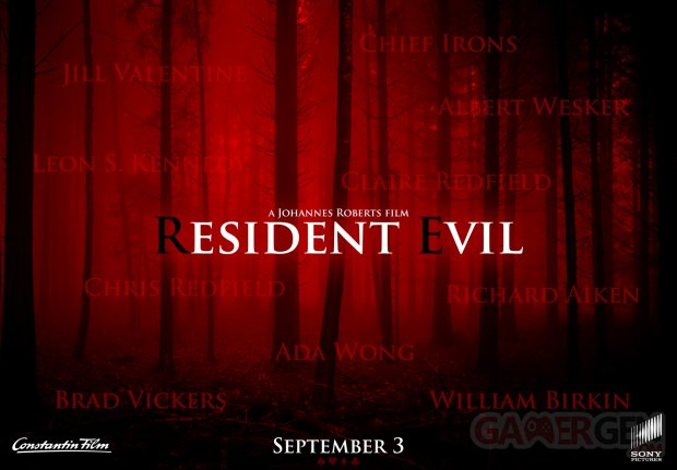 Resident Evil Film Affiche Poster Personnages