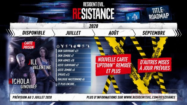 Resident Evil Resistance calendrier juillet