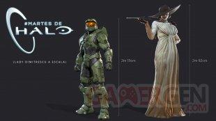 Resident Evil Village y Xbox Lady Dimistrescu comparados con Master Chief