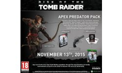Rise of the Tomb Raider 04 08 2018 édition limitée apex predator pack