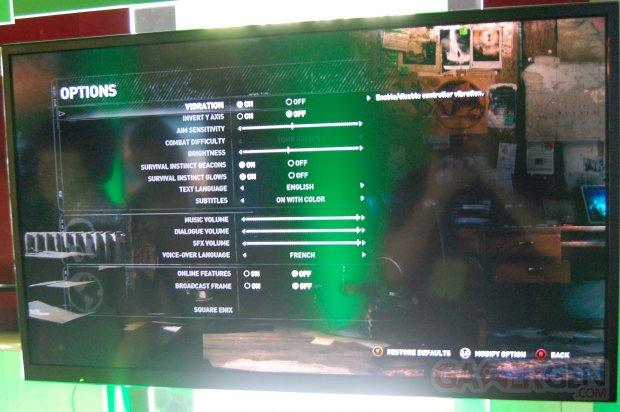 Rise of the Tomb Raider menu