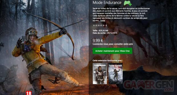 Rise of the Tomb Raider Mode Endurance