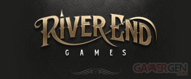 River End Games studio head logo banner