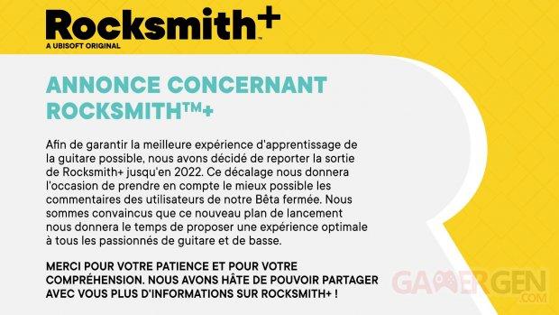 Rocksmith+ 14 09 2021 date sortie report 2022