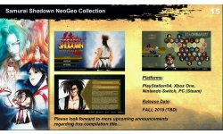 Samurai Shodown Neo Geo Collection annonce