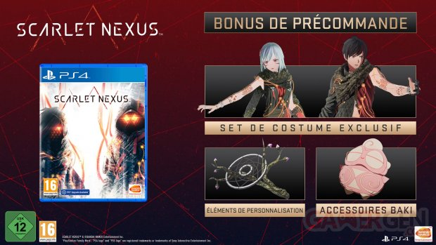Scarlet Nexus bonus précommande 18 03 2021