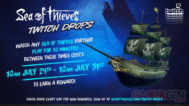 Sea of Thieves Halo Spartan Ship Set Twitch Drops