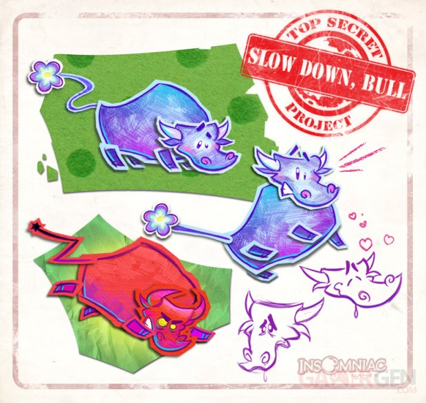 Slow Down Bull 28 06 2014 art