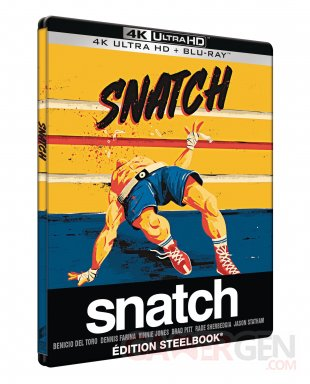 Snatch Blu ray 4K UHD Steelbook