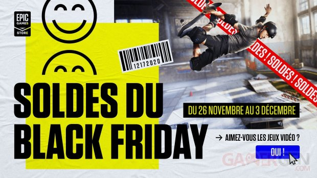 SOLDES Epic Games Store Black Friday