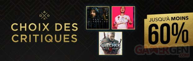 SOLDES PlayStation Store banner head Choix des Critiques