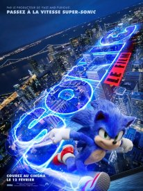 Sonic le film hedgehog movie poster
