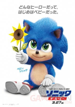 Sonic le film poster Baby Sonic