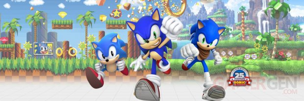 Sonic the Hedgehog 25th anniversary logo banner