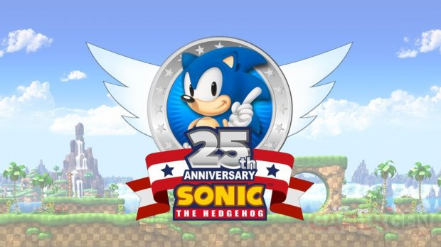 Sonic the Hedgehog 25th Anniversary logo