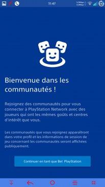 Sony application PlayStation Communautés