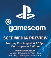 Sony PlayStation Gamescom 2014 invitation