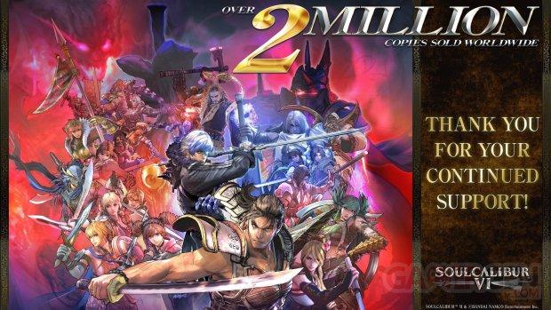 SoulCalibur VI 6 Chiffres Ventes 2 millions