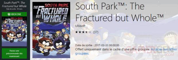 South Park Annale Destin Fracture Whole date sortie