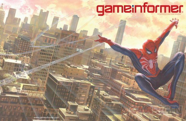 Spider Man couverture Game Informer 03 04 2018