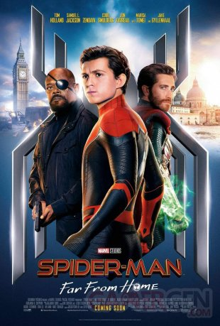 Spider Man Far From Home affiche 02 22 05 2019
