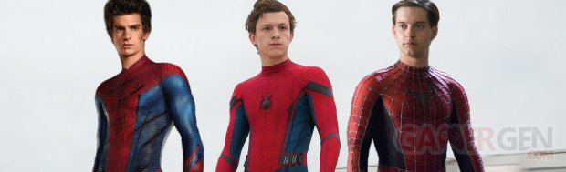 Spider man Tobey MaguireAndrew Garfield Tom Holland image (2)