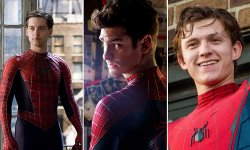 Spider man Tobey MaguireAndrew Garfield Tom Holland image