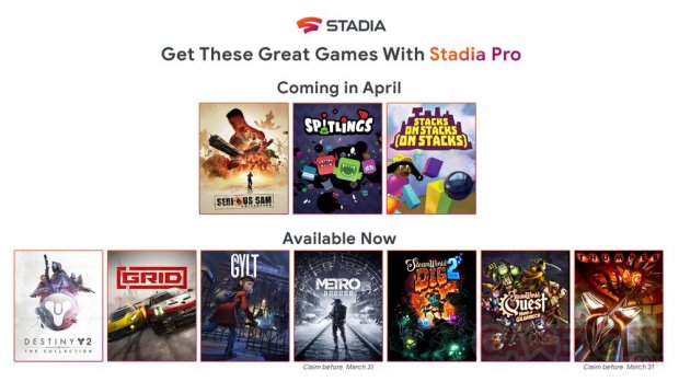 Stadia Pro avril 2020